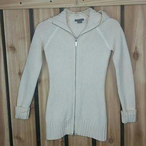 Armani Exchange Zip Up Sweater Lambswool Hooded